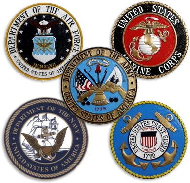 Military branches of service logos