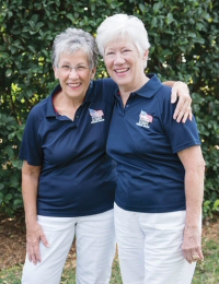 Deb Kehoe (L) and Kathi Skelton from Homes for Our Troops