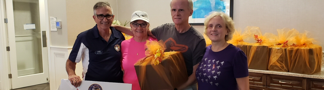 Operation Thanksgiving 2018 gift baskets for MacDill AFB