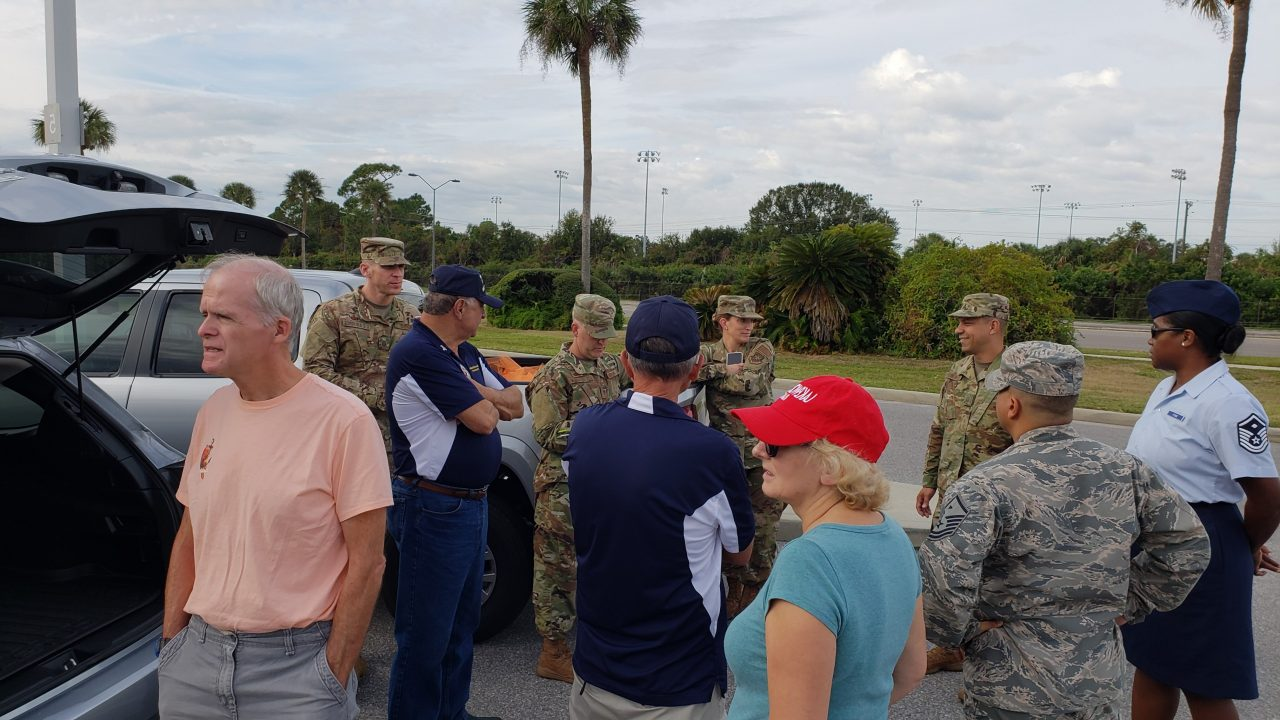 Operation Thanksgiving 2018 delivering baskets at MacDill AFB
