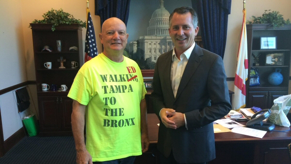 Richard Albero walked from Tampa to The Bronx raising $56,000 for Project Wounded Warrior