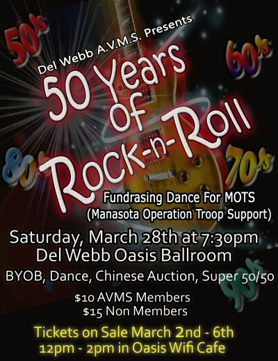 50 Years of Rock and Roll AVMS fundraiser for MOTS