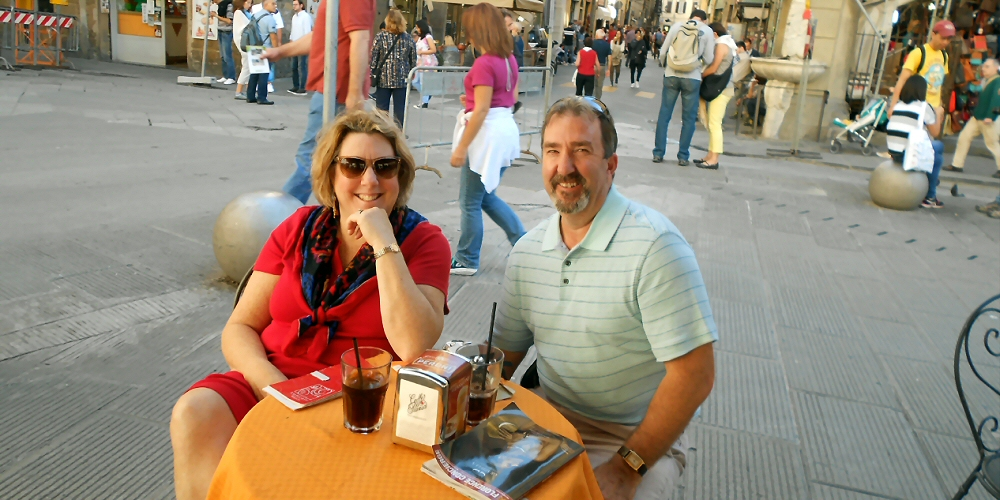 Dave and Karen Richards in Italy